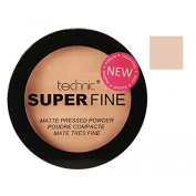 Technic Super Fine Matte Foundation Pressed Powder Long Lasting Stay Shine Free with Built-In Mirror and Sponge Powder Buff