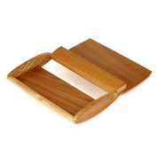 Millya Creative 2 in 1 Wood Business Card Case Handmade Name Card Holder Stand