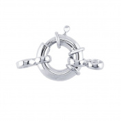 Sterling Silver Fancy Spring Ring Clasp With Ring 12 MM