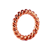Rose 18K Gold Overlay Close Twisted Jump Ring JCRG-105-8MM