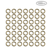 ZX Jewellery 1000PCS Elite 6x1.2mm Close but Unsoldered Round Brass Jump Rings Antique Bronze