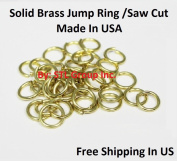 Brass Jump Ring 18 Ga - 10 MM O/D Saw Cut