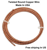 Solid Copper Twisted Wire 3 MM / 1.5m Coil #014