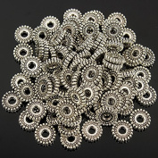 100Pcs Tibetan Silver Spacer Beads Jewellery Findings Making