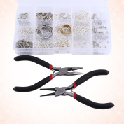 DIY Jewellery Making Starter Kits Beads Pliers Chain Cord Tools Set Silver Plated Jewellery Accessories Finding Set