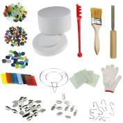 Professional Large Microwave Kiln Kit 14pcs Set For DIY Jewellery Glass Fusing Kiln