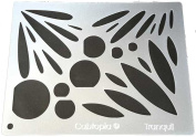 "Cabtopia -- Lapidary Jewellery Design Template Stencil ""Tranquil"""