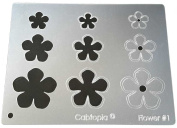 "Cabtopia -- Jewellery Design Template Stencil ""Flower #2.5cm"