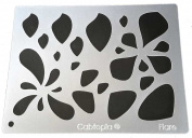 "Cabtopia -- Lapidary Jewellery Design Template Stencil ""Flare"""