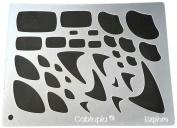 "Cabtopia -- Lapidary Jewellery Design Template Stencil ""Explore"""