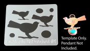 "Cabtopia -- Jewellery Design Template Stencil ""Pendant #2.5cm"
