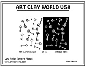 Art Clay Antique Keys Low Relief Texture Plate - 1 Pc.