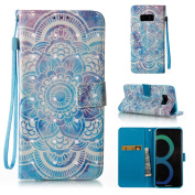 Galaxy S8+ Case, For [S8 Plus], MerKuyom [Special 3D][Wrist Strap] [Kickstand] Premium PU Leather Wallet Pouch Flip Cover Case For for Samsung Galaxy S8 Plus / S8+, W/ Stylus