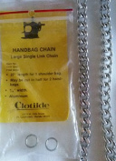 Large Single Link Handbag Chain - 70cm . - Silvertone