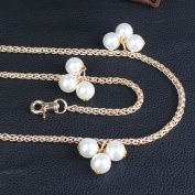 Width 6MM Pearl Shaped Metal Chain 3 Size length Golden Tone Mini Purse/Shoulder/Cross Body Bag Replacement Metal Strap