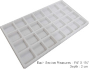 White Plastic Insert With 28 Compartments :