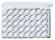 HAWK 40pc Aluminium Container/jar Set With Clear Plastic Lid In A Aluminium Case - 2cm Dia