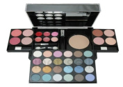 Travel Cosmetic 40 Piece Beauty Palette Train Box Make Up Gift Set Kit