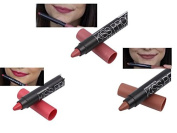 Set of 3 Long Lasting Long Lasting Lipstick Matte No. 38cm - 43cm with Pencil Sharpener
