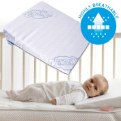 Wedge Pillow Anti Reflux Colic Cushion For Baby Cot or Cot Bed 30x37 cm
