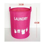 Saint Kaiko Large Capacity Oxford Laundry Hamper Foldable with Lid Laundry Basket Laundry Bin Round Storage Basket Toy Organiser for Nursery Toys Clothing