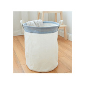 Saint Kaiko Cotton Pop Up Laundry Hamper Foldable with Lid Laundry Basket Laundry Bin Round Storage Basket Dirty Clothes Holder for Nursery Toys Clothing