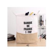 Saint Kaiko Cotton Laundry Hamper Foldable with Handle Laundry Basket Laundry Bin Round Storage Basket Dirty Clothes Holder Storage Bin for Nursery Toys Clothing