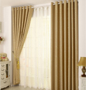 """FLORATA 2 Pieces Room Darkening Thermal Insulated Blackout Grommet Window Curtain Panel Divider Drape Treatment For Living Room Home Multicolors(L*W 250cm/98.4""""*100cm/39.4"""")Beige"""