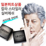 WoW Silver Grey Hair Wax, Professional Hair Pomades, Natural Silver Ash Matte Hairstyle Wax for Men Women