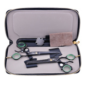 SHARP WOLF 15cm Professional Double Swivel Handle Hair Scissors Set Cutting & Thinning Shear