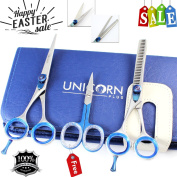 [ NEW ARRIVALS ] - LEFT HANDED Professional Barber/ Hairdressing Scissors ,Razor Edge Hair Cutting Scissors , Hair Styling Scissors With Blue Screw 5.5 Overall length + Free Cuticle Scissors