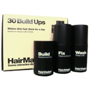 Hairmaker Hair Maker Hair Loss Kit Thinning Building Cotton Fibres Concealer 25g, Fixing Spray 100ml & Removal Shampoo Wash 100ml