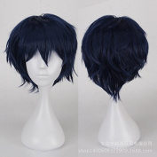 Coolsky Long Wig Indigo blue Wig Halloween Cosplay Party Costume Wig for Women