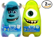 Monster U 3 in 1 Body Wash, Shampoo & Conditioner - Scary Berry/Freaky Fruit Assorted (Pack of 2) & M.Z. Berger & Company