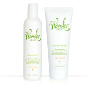 The Wonder Seed Shampoo & Conditioner Set - All Natural Formula - Zero Toxin Vegan Blend - Best Solution for Hair Loss Prevention/ Dry Itchy Scalp/ Dandruff - Cruelty Free