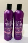 2pck - Salon Selectives 2 in 1 Shampoo plus Conditioner 350ml