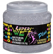 Super Wet Plus Hair Styling Gel, Maximum Hold, Transparent, 1040ml (1kg) per Container