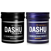 2 pieces_ DASHU for Men Original Premium Super Mat Hair Wax + Premium Ultra Holding Power Hair Wax 100ml / Made in Korea