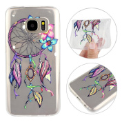 Galaxy S7 Case, Samsung Galaxy S7 Back Case, Rosa Schleife Colourful Pattern Design Ultra Thin Flexible Transparent Crystal Clear Soft Gel TPU Bumper Silicone Back Cover Protective Case Cover for Samsung S7