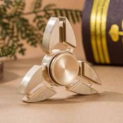 Hand Spinner,Fidget Spinner Toy Boomerang Pure Copper Shamrock Triangle Hand Spinners Stress and Anxiety Relief Toy , Gyroscope