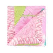 Little Beginnings Butterfly Daisy Minky Blanket