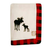 Trend Lab Northwoods Framed Receiving Blanket, Moose Applique