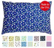 Printed TODDLER PILLOW (13x18) - No Pillowcase Needed - Hypoallergenic - Machine Washable - Double Stitched - Made in Virginia - Sold ONLY by A Little Pillow Company