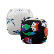 Alva Baby Swim Nappies 2pcs Pack One Size Reuseable & Adjustable 0-24 mo.Size 4.5-18kg SWD12-15