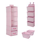 Delta Children Complete Nursery Organisation 3-Piece Set, Barely Pink