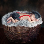Newborn Baby Photography Prop Crochet Knitted Hat Pants Costume Outfits, Panda Santa