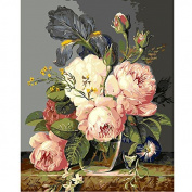 DIY Oil Painting for Adults Kids Paint By Number Kit Digital Oil Painting Blooming Flower 41cm X 50cm