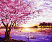 DIY Oil Painting for Adults Kids Paint By Number Kit Digital Oil Painting Sunrise 41cm X 50cm