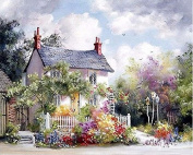 DIY Oil Painting for Adults Kids Paint By Number Kit Digital Oil Painting Small House in Village 41cm X 50cm