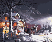 DIY Oil Painting for Adults Kids Paint By Number Kit Digital Oil Painting Snow 41cm X 50cm